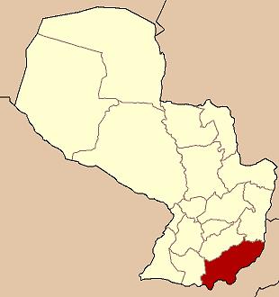 mapa paragwaj